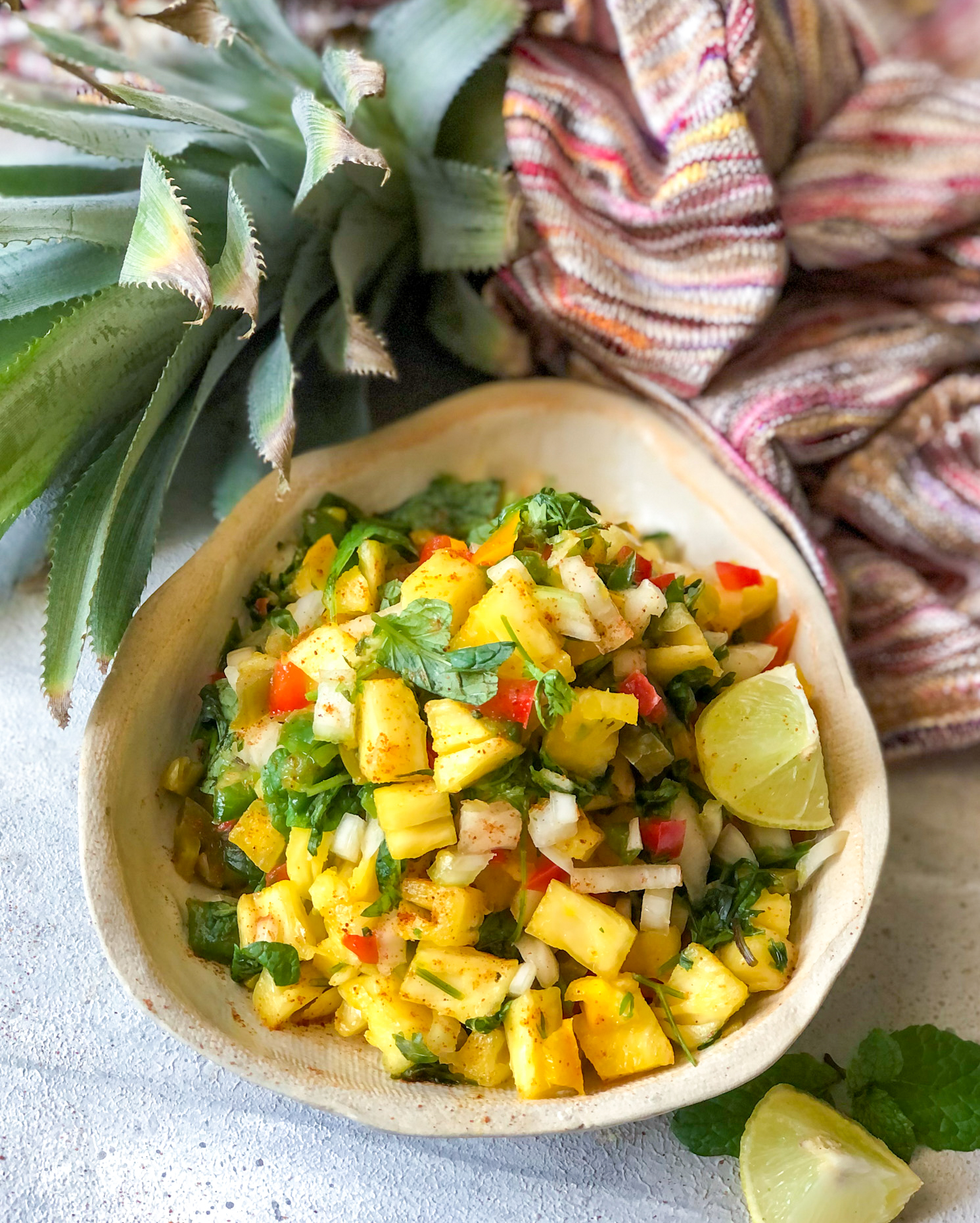 Spicy Grilled Pineapple Salsa Recipe