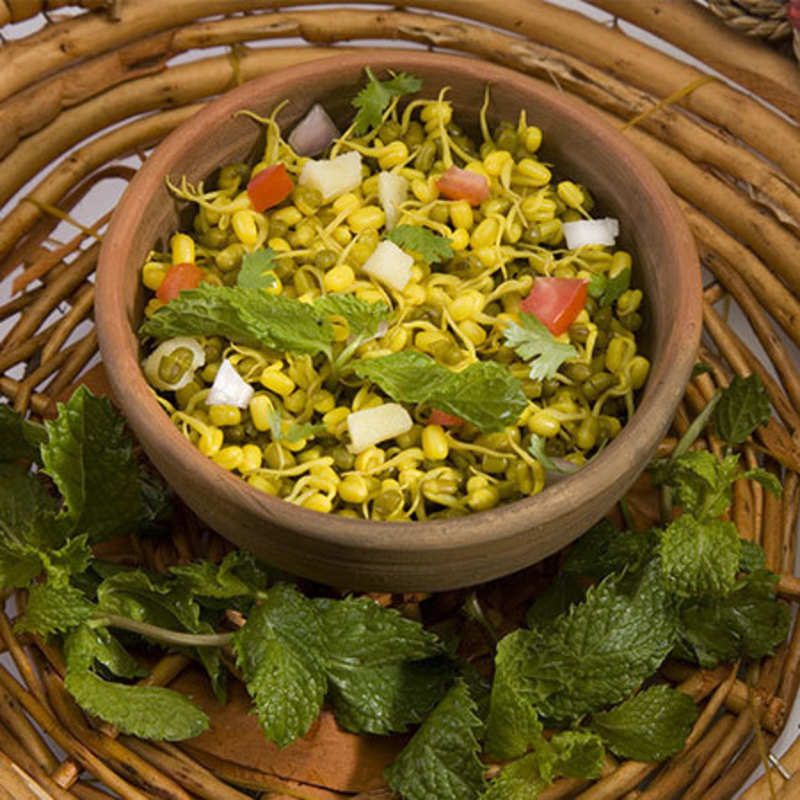 Sprouts and Corn Chaat